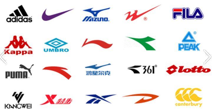 运动鞋商标大全