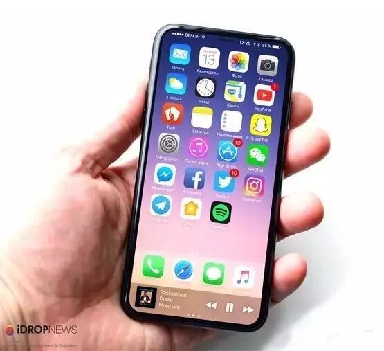 无边框+屏内指纹 iPhone8新外观专利确定