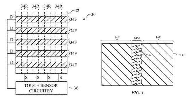 苹果可折叠屏幕外观专利公布!