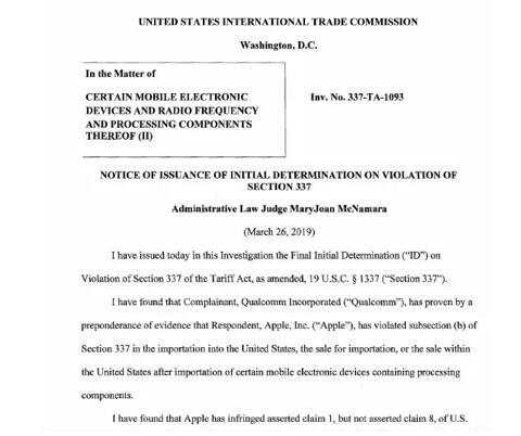 苹果侵犯高通专利!ITC或发禁令在美禁售iPhone