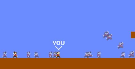 油管播主自制网页版《超级马里奥大逃杀》,任天堂版权警告
