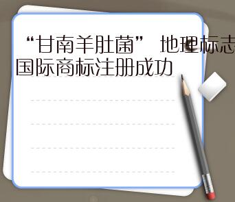 """""""甘南羊肚菌"""" 地理標志國際商標注冊成功"""