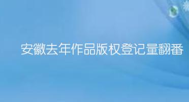 安徽去年作品版权登记量翻番